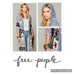 Free People Americana Stars & Stripes Cardigan XS